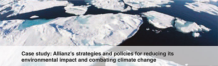 case study allianzs strategies and policies for reducing its environmental impact and combating climate change