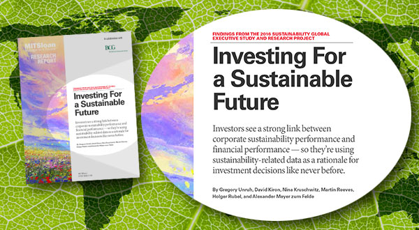 MIT, BCG: Unlike what many company managers think, for investors, corporate sustainability performance and financial performance are strongly related: in fact, information on a company's sustainability performance is regularly used in taking investment decisions