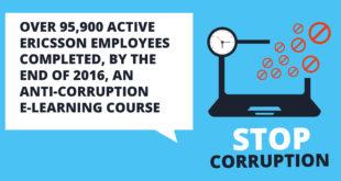 Ericsson shows zero tolerance for bribery and corruption